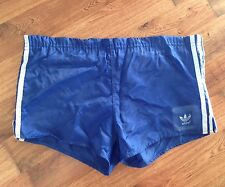 VTG RARE BLUE ADIDAS ATHLETIC RUNNING SPRINTER SHORTS IBIZA HIGH CUT RETRO W36