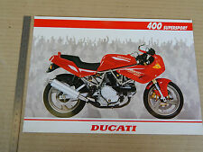 BROCHURE ORIGINALE DUCATI 400 SS SUPERSPORT DEPLIANT