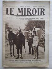 LE MIROIR N° 51 GUERRE 1914-1918 WWI HUSSARD DE LA MORT TAUBEN TAUBE SPORTIFS