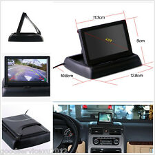 "ABS Plastic Foldable 4.3"" LCD Car Reverse Monitor For Parking Camera VCR DVD VCD"