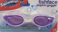 SwimWays Fish Face Dolphin Kids Swim Goggles