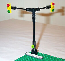 Lego Traffic Light Signals 2-Way Cross Road 8495 Town City Street Sign Post