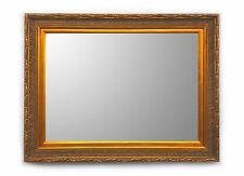 Specchiera Classica Rettangolare - 66x88 cm. - Specchio Bisellato Oro Anticato