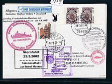 97924) AA / LH FF Frdhfn - Hamburg 1.4.02, Zeppelin NT, Kte Bodensee SP