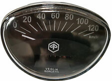 ukscootes VESPA SPEEDOMETER RALLY SPRINT PRIMAVERA 0-120KM OFF BLACK NEW