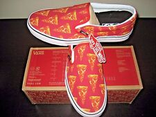 Vans Classic Slip on Mens Late Night Mars Red Pizza Canvas Skate shoes Size 11