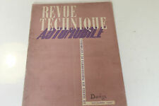 REVUE TECHNIQUE AUTOMOBILE DECEMBRE 1947 DODGE