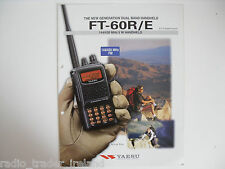 YAESU FT-60R/E (GENUINE BROCHURE ONLY)............RADIO_TRADER_IRELAND.