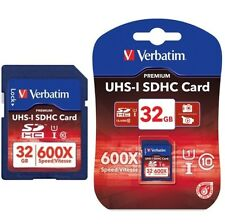 Verbatim 600X 90MB/s 32GB SDHC Class 10 Flash Memory Card Camera UHS-I HD Video