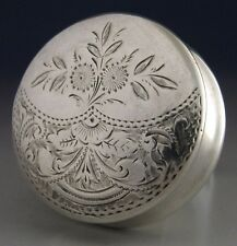 BEAUTIFUL VICTORIAN STERLING SILVER PILL BOX 1894 ANTIQUE