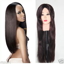 Full Lace Indian Human Hair Natural Wigs Soft  Straight Spl For Cancer Patient