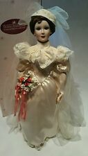 "Ashton Drake Betty's 1930's Wedding 20"" Porcelain Bride Doll w/ Box"