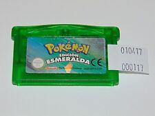 Game Boy Advance: Pokemon Edición Esmeralda (cartucho versión ESP, Pila Nueva)