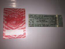 Ted Nugent - NY Eve Whiplash Bash Satin Backstage Pass & unused ticket Authentic