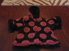 BOUTIQUE SEEDS CORKY & CO COMPANY BROWN PINK POLKA DOT COAT 0-3