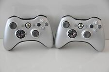 Official OEM Genuine Microsoft xbox 360 Wireless Controller Silver Lot of 2