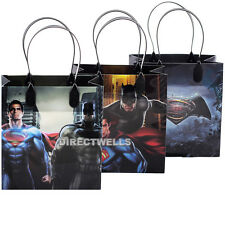 Batman vs Superman Authentic Licensed Reusable Small Party Favor Goodie 12 Bags