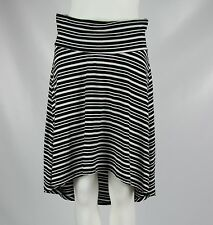A Pea in the Pod Maternity Womens Size Small Black White Striped Hi-Low Skirt