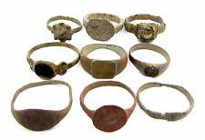 Lot de 9 roman/medieval bronze anneaux pour nettoyage-portables superbe-C893
