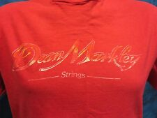 vintage 80s DEAN MARKLEY STRINGS T-Shirt LARGE guitar classical music rock soft