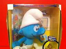 THE SMURFS PLUSH TOY 50TH ANNIVERSARY EXCLUSIVE GOLD COLOR FIGURE DVD SET  2008