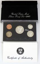 1997 US Mint Silver Proof 5 Piece Coin Set with COA S