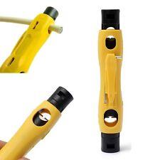 Dénudeur de Cable Pince à Dénuder Couper Coaxial Fil Corde Cordon Automatique TV