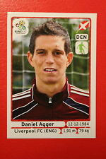 Panini EURO 2012 N. 202 DENMARK AGGER NEW With BLACK BACK TOPMINT!!