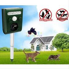 Ultrasonic Solar Animal Repeller Dog Cat Rat Chaser Deterrent Repellent Garden