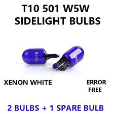 2x 501 T10 W5W 12V BLUE XENON Parking Sidelight Bulbs - PURE WHITE LIGHT - FORD