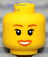 NEW Lego Female MINIFIG HEAD w/Pink Red Lip Queen Princess Girl Minifigure Smile