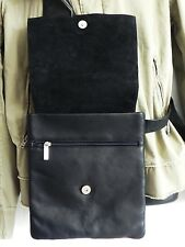 Columbia Leather Cross Body Bag/Shoulder bag Black Quality Leather