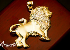 Real 10k Gold FULL BODY LION Pendant Charm Piece Diamond Cut Design