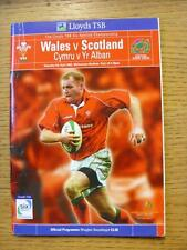 06/04/2002 Rugby Union Programme: Wales v Scotland [At Cardiff Arms Park] (Creas