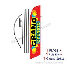 Grand Opening Balloons 15' Feather Banner Swooper Flag Kit with pole+spike