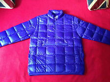 FOLK Clothing Men down coat purple boom boom puffa packable size 3 (M) BNWT