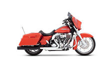 Rinehart 4 Inch Slip-on Mufflers Black With Black End Caps Harley Touring 95-16