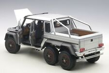 Autoart MERCEDES-BENZ G63 AMG 6x6 SILVER COMPOSITE MODEL 1/18 Scale New In Stock