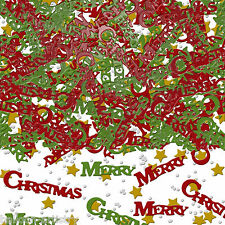 2x Metallic Foil Merry Christmas Confetti Table Sprinkles