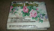 CANNON ROYAL FAMILY QUEEN FLAT SHEET GARDEN TRELLIS SHABBY CHIC NEW IN PACKAGE