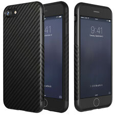 Fashion Black Allergy-proof Carbon Fiber Pattern TPU Case For Apple iPhone 7 New