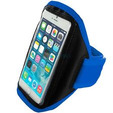 "iPhone 6 (4.7"") Blue Padded Arm Band Mobile Phone Holder for Running, Jogging"