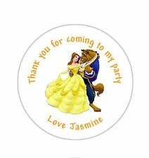 24 Personalised Beauty And The Beast Set Birthday Party Goody Bag Stickers