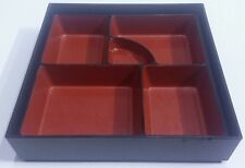 JAPANESE BENTO/OBENTO LUNCH BOX TRAY LACQUERED PLASTIC NO LID RESTAURANT SUPPLY