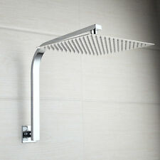 Wall Mounted Bathroom 8''~ Rain Square Shower Head W/Gooseneck Shower Arm