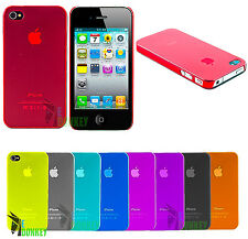 CUSTODIA CASE COVER APPLE IPHONE 4 4S ULTRA THIN SLIM SOTTILE + PELLICOLA