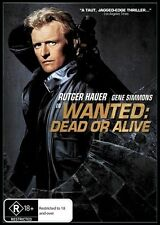 Wanted Dead or Alive Rutger Hauer Gene Simmons ALL Region DVD VGC