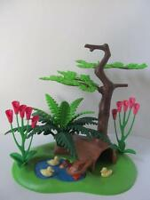 Playmobil Pond with ducks & ducklings, tree & fern NEW farm/zoo/forest scenery