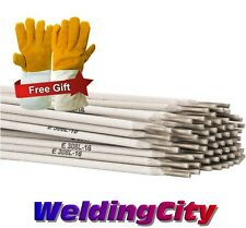 """5-Lb E308L-16 3/32"""" Stainless Steel Stick Welding Electrode Rod with Free Gloves"""