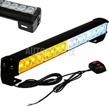 "18"" LED White Amber Yellow Bar Emergency Truck Strobe Flash Light Warning"